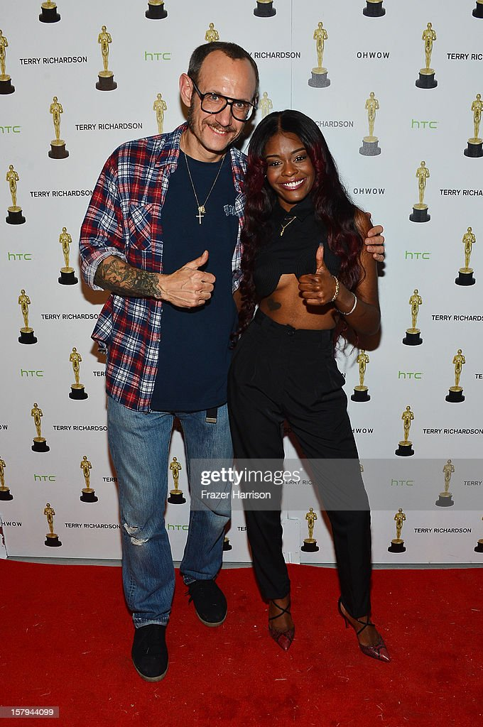 Photographer Terry Richardson and Azealia Banks attend the OHWOW & HTC celebration of the release of 'TERRYWOOD' at The Standard Hotel & Spa on December 7, 2012 in Miami Beach, Florida.