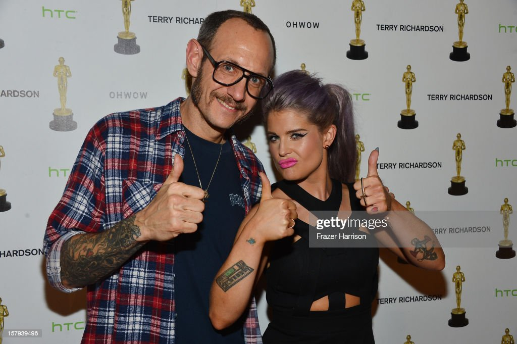 Photographer <a gi-track='captionPersonalityLinkClicked' href=/galleries/search?phrase=Terry+Richardson&family=editorial&specificpeople=758714 ng-click='$event.stopPropagation()'>Terry Richardson</a> and <a gi-track='captionPersonalityLinkClicked' href=/galleries/search?phrase=Kelly+Osbourne&family=editorial&specificpeople=156416 ng-click='$event.stopPropagation()'>Kelly Osbourne</a> attend the OHWOW & HTC celebration of the release of 'TERRYWOOD' at The Standard Hotel & Spa on December 7, 2012 in Miami Beach, Florida.