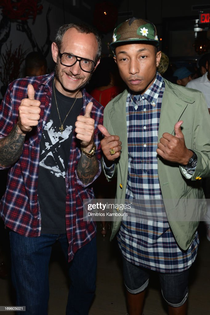 Photographer <a gi-track='captionPersonalityLinkClicked' href=/galleries/search?phrase=Terry+Richardson&family=editorial&specificpeople=758714 ng-click='$event.stopPropagation()'>Terry Richardson</a> and <a gi-track='captionPersonalityLinkClicked' href=/galleries/search?phrase=Pharrell+Williams&family=editorial&specificpeople=161396 ng-click='$event.stopPropagation()'>Pharrell Williams</a> attend the 10th anniversary party of Billionaire Boys Club presented by HTC at Tribeca Canvas on June 4, 2013 in New York City.