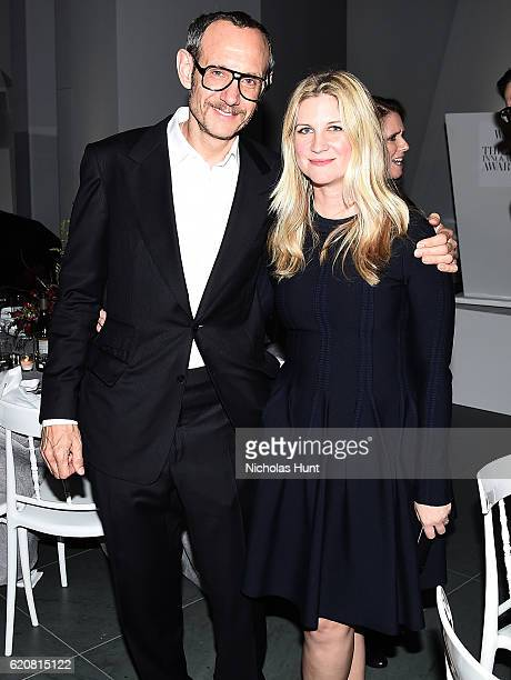 Photographer Terry Richardson and WSJ Magazine Editor In Chief Kristina O'Neill attends the WSJ Magazine 2016 Innovator Awards at Museum of Modern...