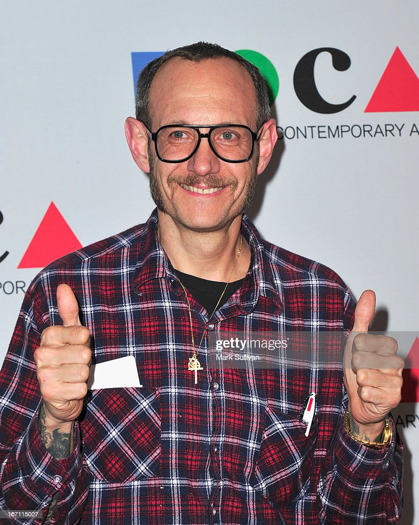 Photographer <a gi-track='captionPersonalityLinkClicked' href=/galleries/search?phrase=Terry+Richardson&family=editorial&specificpeople=758714 ng-click='$event.stopPropagation()'>Terry Richardson</a> arrives for 'Yesssss!' 2013 MOCA Gala, Celebrating The Opening Of The Exhibition Urs Fischer at MOCA Grand Avenue on April 20, 2013 in Los Angeles, California.
