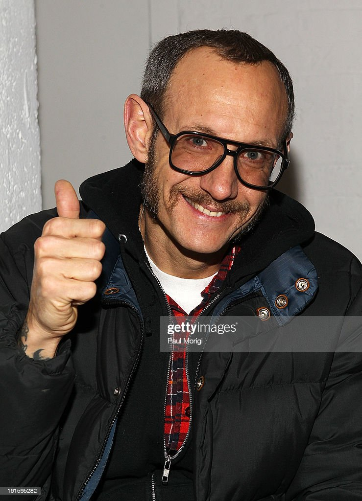 Photographer <a gi-track='captionPersonalityLinkClicked' href=/galleries/search?phrase=Terry+Richardson&family=editorial&specificpeople=758714 ng-click='$event.stopPropagation()'>Terry Richardson</a> attends Rodarte during Fall 2013 Mercedes-Benz Fashion Week on February 12, 2013 in New York City.