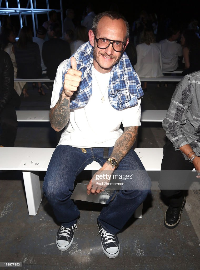 Photographer <a gi-track='captionPersonalityLinkClicked' href=/galleries/search?phrase=Terry+Richardson&family=editorial&specificpeople=758714 ng-click='$event.stopPropagation()'>Terry Richardson</a> attends the Alexander Wang show during Spring 2014 Mercedes-Benz Fashion Week at Pier 94 on September 7, 2013 in New York City.