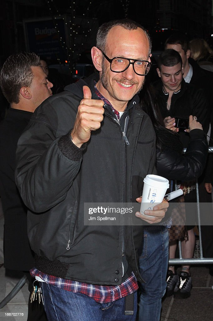 Photographer Terry Richardson attends The Cinema Society and Men's Fitness screening of 'Pain and Gain' at Crosby Street Hotel on April 15, 2013 in New York City.