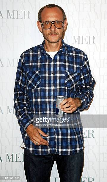 Photographer Terry Richardson attends the La Mer Celebrates 'Liquid Light' By Fabien Baron at The Glass Houses on September 10 2008 in New York City