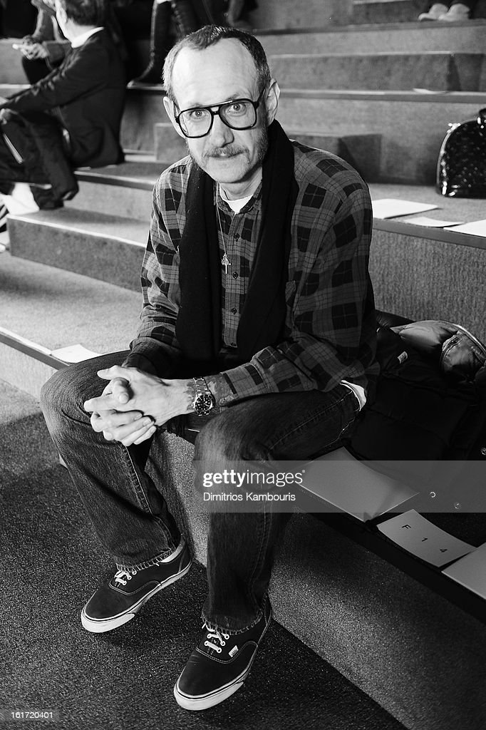 Photographer Terry Richardson attends the Marc Jacobs Collection Fall 2013 fashion show during Mercedes-Benz Fashion Week at New York Armory on February 14, 2013 in New York City.