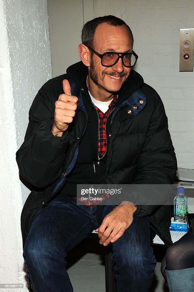 Photographer <a gi-track='captionPersonalityLinkClicked' href=/galleries/search?phrase=Terry+Richardson&family=editorial&specificpeople=758714 ng-click='$event.stopPropagation()'>Terry Richardson</a> attends the Rodarte Fall 2013 fashion show during Mercedes-Benz Fashion Week at 548 West 22nd Street on February 12, 2013 in New York City.