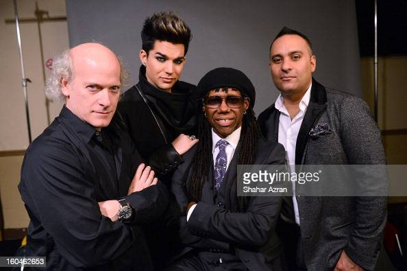 photographer Timothy GreenfieldSanders Adam Lambert Nile Rodgers and Russell Peters attend 2013 We Are Family Foundation Gala at Hammerstein Ballroom...