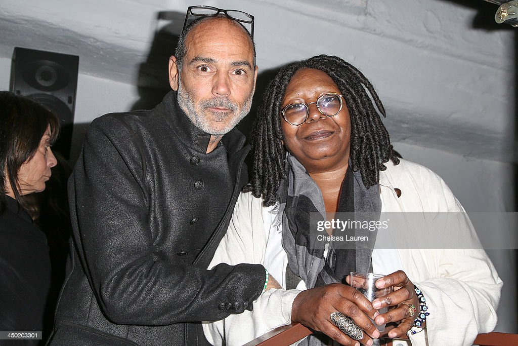 Photographer Timothy White (L) and actress <a gi-track='captionPersonalityLinkClicked' href=/galleries/search?phrase=Whoopi+Goldberg&family=editorial&specificpeople=202463 ng-click='$event.stopPropagation()'>Whoopi Goldberg</a> attend the Sunset Marquis Hotel 50th anniversary birthday bash at Sunset Marquis Hotel & Villas on November 16, 2013 in West Hollywood, California.