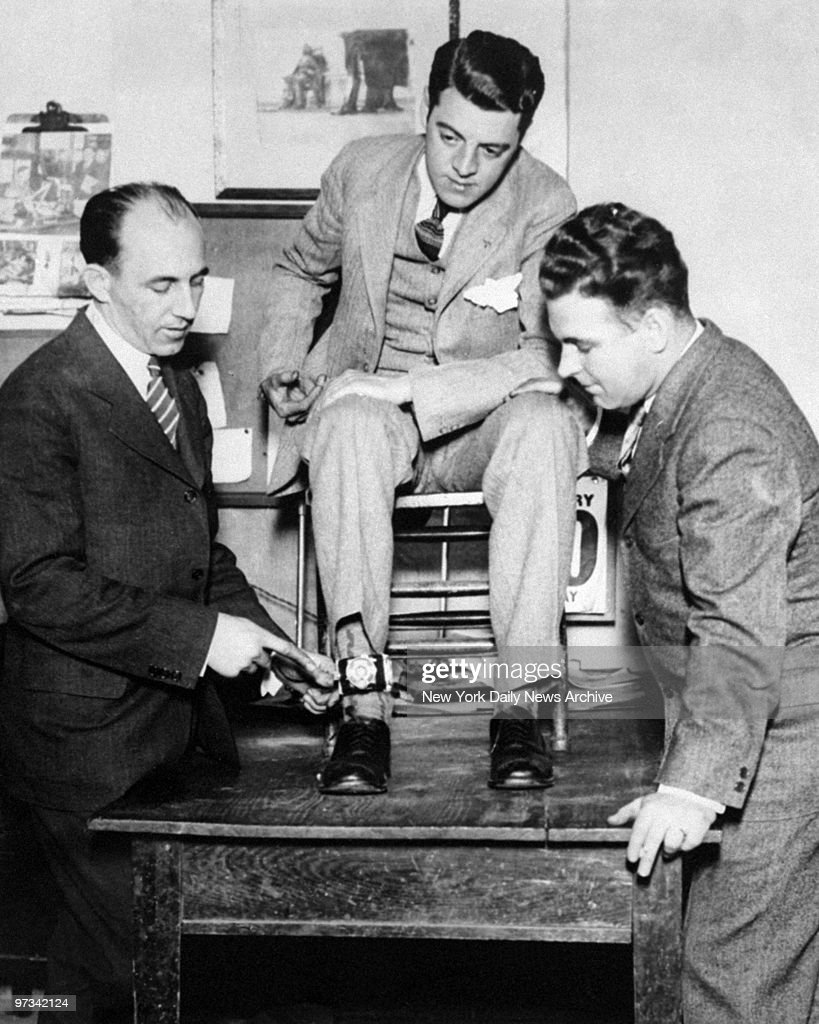 First electric chair victim - Photographer Tom Howard Seated Shows How Camera Was Strapped To His Ankle When He