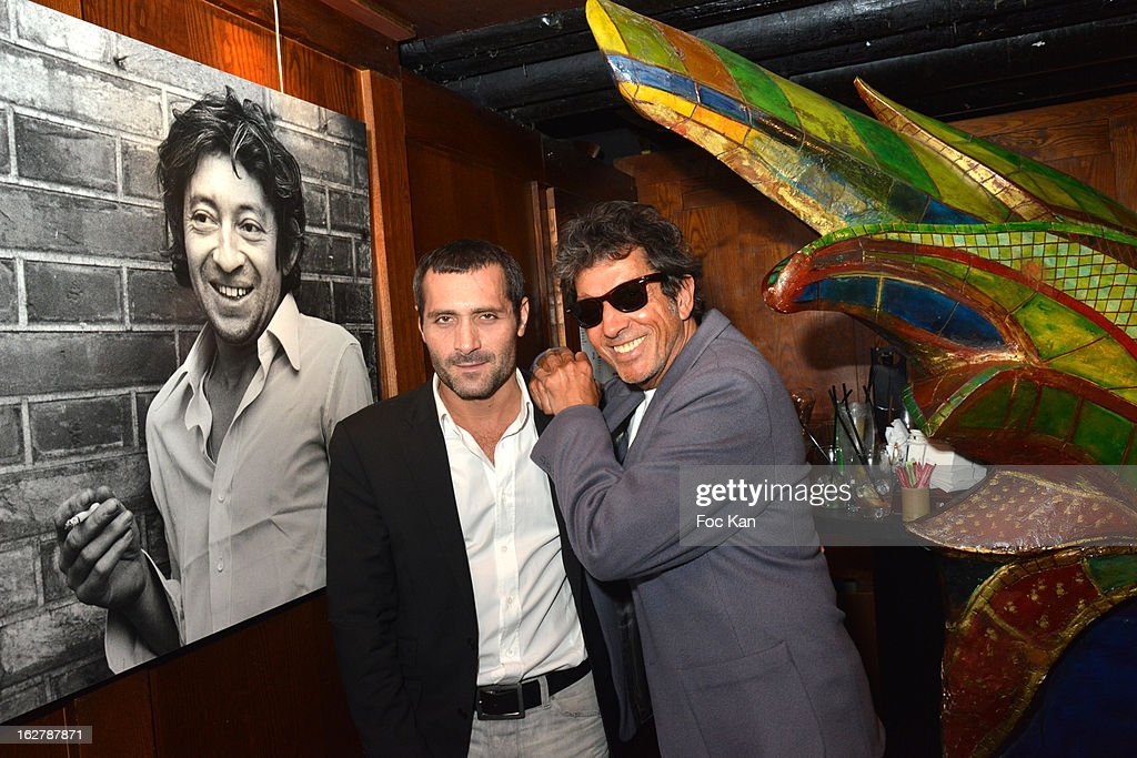 Photographer Tony Frank (R) attends the 'Tour 66' Tony Frank and Jean Croc photography exhibition preview at Buddha Bar on February 26, 2013 in Paris, France.