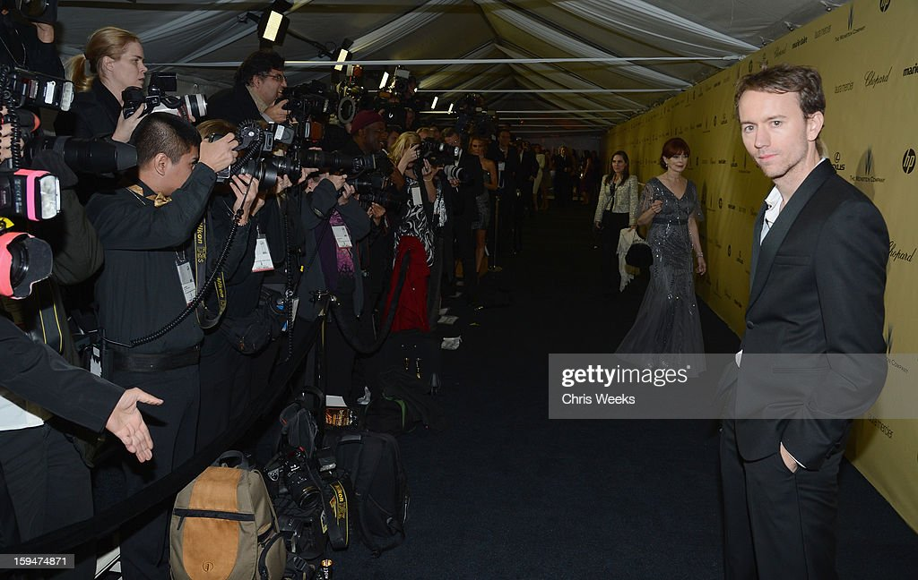 Photographer Tyler Shields attends The Weinstein Company's 2013 Golden Globe Awards after party presented by Chopard HP Laura Mercier Lexus Marie...
