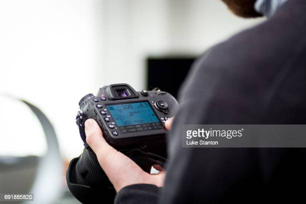 Photographer Using a camera