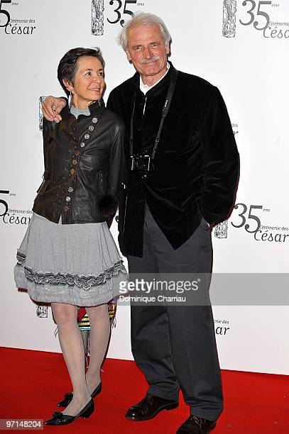 Photographer Yann ArthusBertrand and guest attend the 35th Cesar Film Awards at Theatre du Chatelet on February 27 2010 in Paris France