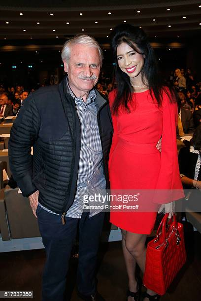 Photographer Yann ArthusBertrand and Vanessa Modely attend the 'L'OrealUNESCO Awards 2016 For Women in Science International' hosted by Fondation...