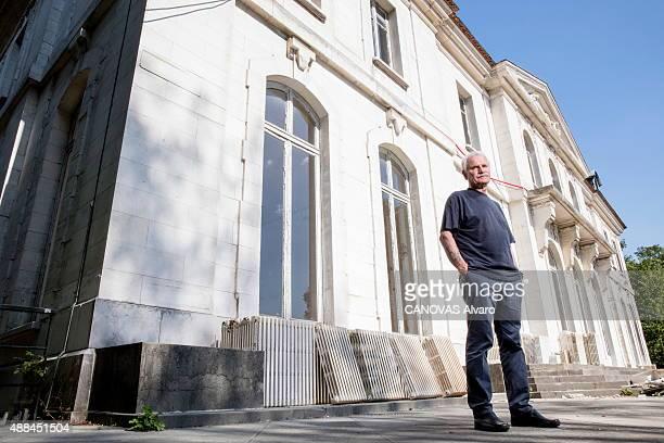 Photographer Yann ArthusBertrand poses on August 29 2015 in Paris France