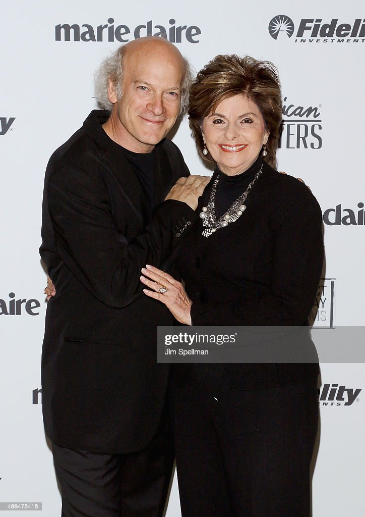 Photographer/filmmaker Timothy GreenfieldSanders and lawyer Gloria Allred attends the 'American Masters The Women's List' premiere at Hearst Tower on...