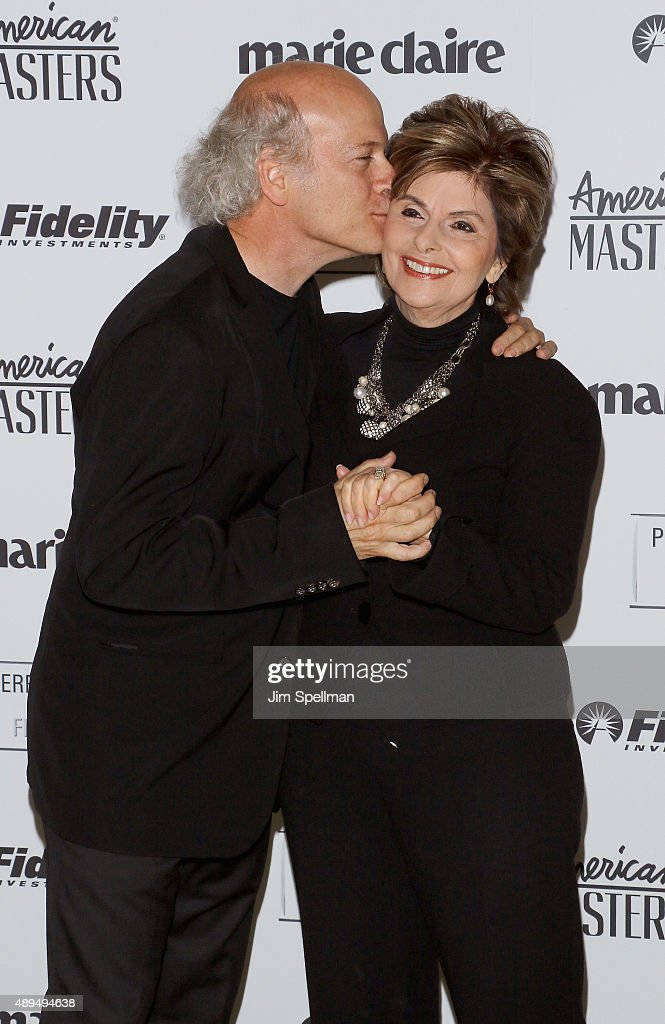 Photographer/filmmaker Timothy GreenfieldSanders and lawyer Gloria Allred attend the 'American Masters The Women's List' premiere at Hearst Tower on...