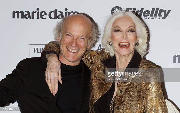 Photographer/filmmaker Timothy GreenfieldSanders and model Carmen Dell'Orefice attend the 'American Masters The Women's List' premiere at Hearst...
