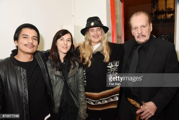 Photographer/musician Jonathan Velasquez galerie Andre Antoine owner Sophie Renaut Geraldine Beigbeider and director/painter Larry Clark attend the...