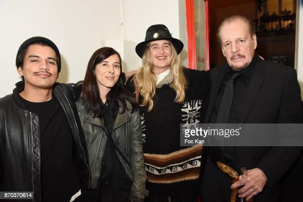 Photographer/musician Jonathan Velasquez galerie owner Sarah Renaud Geraldine Beigbeider and director/painter Larry Clark attend the Larry Clark and...