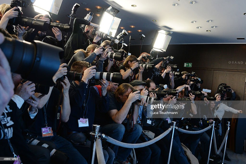 Photographers at the 'Cesar Chavez' photocall during 64th Berlinale International Film Festival at Grand Hyatt Hotel on February 12, 2014 in Berlin, Germany.