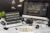 photographer photographic photograph journalist camera traveling photo dslr editing edit hobbies lighting concept NOTE TO INSPECTOR: All visible photos were produced for this particular shoot. I am th