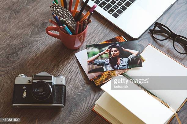 photographer's creative workspace