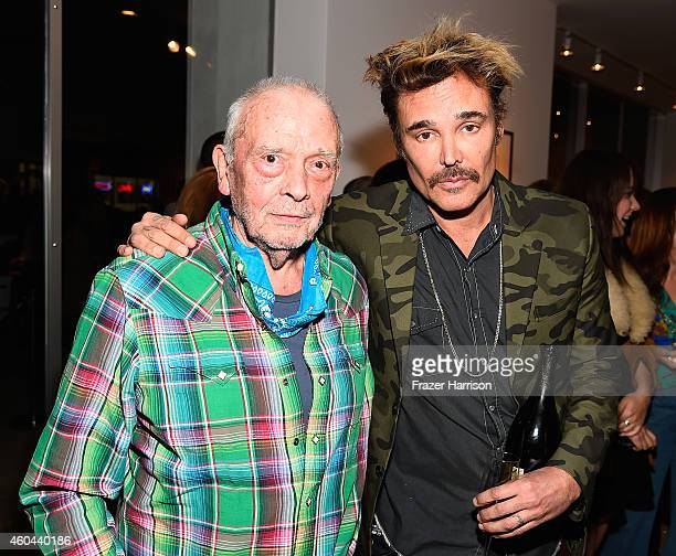Photographers David Bailey and David LaChapelle attend TASCHEN And David Bailey Celebrate 'It's Just A Shot Away The Rolling Stones In Photographs'...