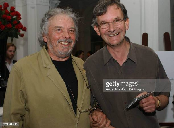 Photographers David Bailey and Martin Parr during the private view of photolondon the first annual art fair in the UK dedicated to photography at The...
