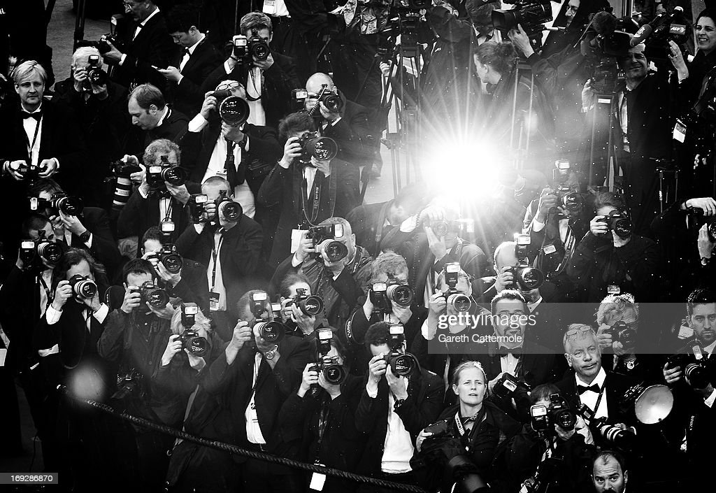 Photographers during arrivals for the 'All Is Lost' Premiere during the 66th Annual Cannes Film Festival at Palais des Festivals on May 22, 2013 in Cannes, France.