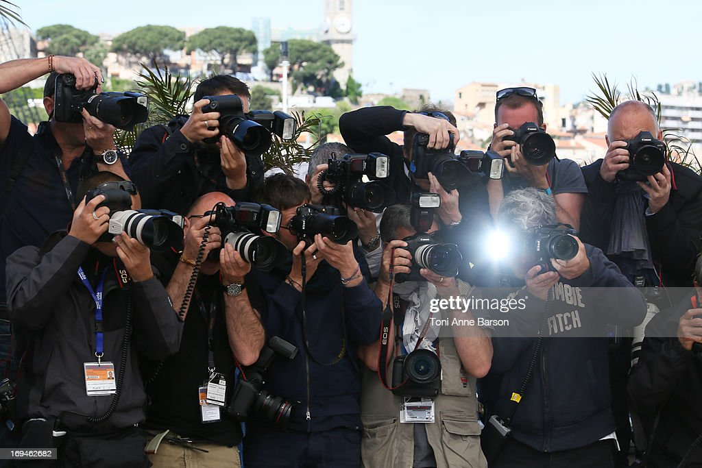 Photographers during the photocall for 'The Immigrant' at The 66th Annual Cannes Film Festival on May 24, 2013 in Cannes, France.