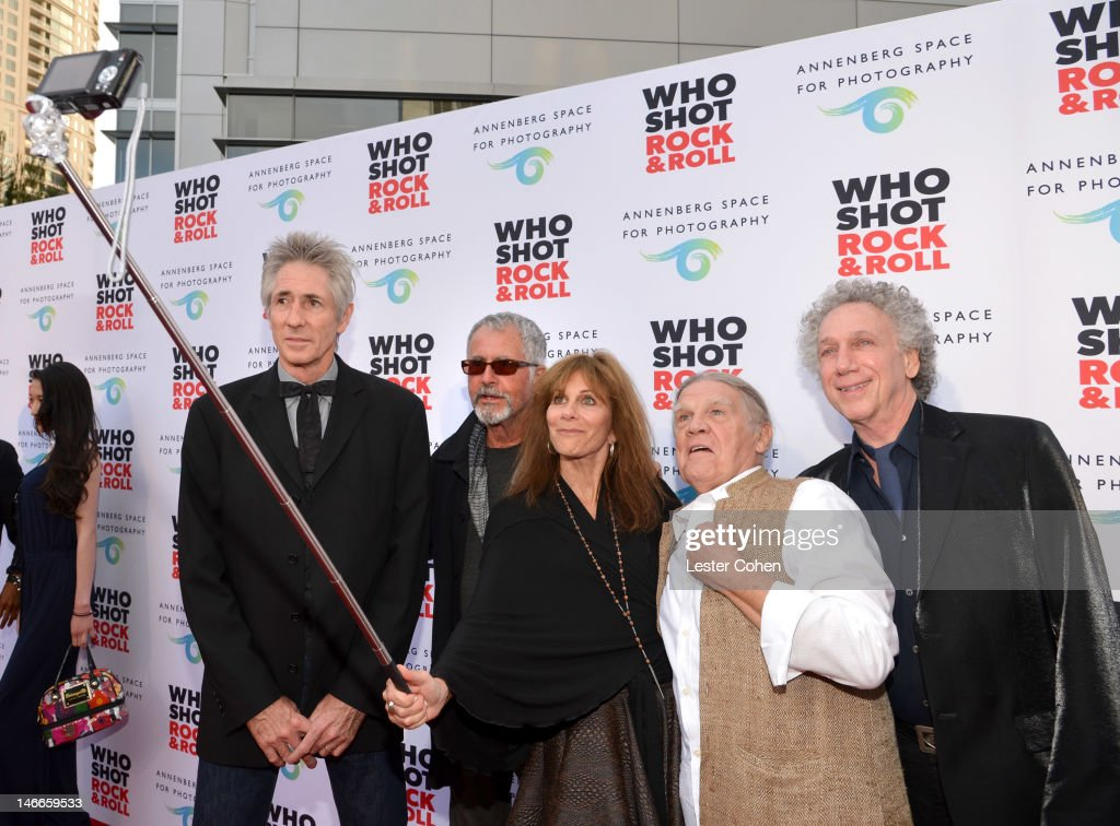 Photographers Ed Colver, Guy Webster, Lynn Goldsmith, Henry Diltz and Bob Gruen attend the Who Shot Rock & Roll Opening Night VIP Reception at the Annenberg Space For Photography on June 21, 2012 in Century City, California.