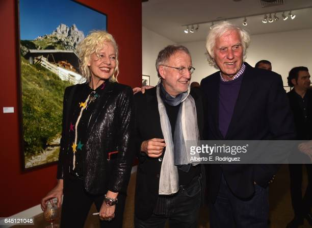 Photographers Ellen Von Unwerth Gerd Ludwig and Douglas Kirkland tattend the openingn night of Ellen Von Unwerth's Photo Exhibit 'Heimat' at TASCHEN...