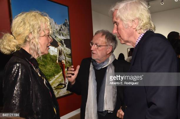 Photographers Ellen Von Unwerth Gerd Ludwig and Douglas Kirkland tattend the openingn night of Ellen Von Unwerth's Photo Exhibit 'Heimat' at TASCHEN...