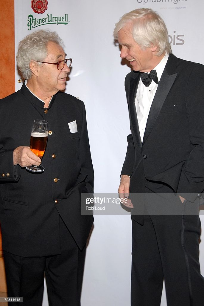 Photographers Elliott Erwitt and Douglas Kirkland arrive for the 4th Annual Lucie Awards at the American Airlines Theatre October 30, 2006 in New York City.
