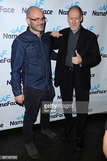 Photographers Eugene Golorgursky and Gary Gershoff attend the NameFacecom launch at No 8 on January 27 2016 in New York City