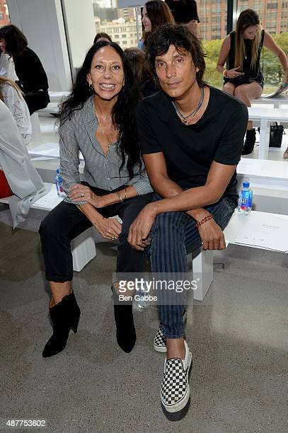 Photographers Inez van Lamsweerde and Vinoodh Matadin attend the Jason Wu fashion show during Spring 2016 New York Fashion Week at Spring Studios on...