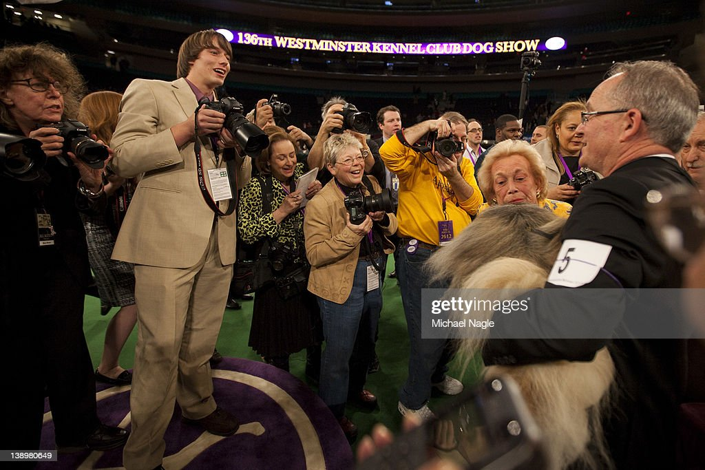 Photographers line up to shoot Pekingese Malachy after winning Best in Show at the Westminster Kennel Club Dog Show on February 14, 2012 in New York City. The Westminster Kennel Club Dog Show was first held in 1877, is the second-longest continuously held sporting event in the U.S., second only to the Kentucky Derby.