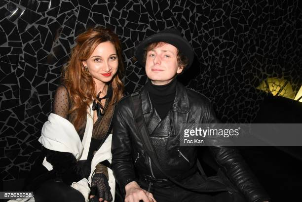 Photographers Marlene Delcambre and Hannibal Volkoff attend 'Le Temps Retrouve' Party at Les Bains on November 17 2017 in Paris France