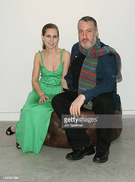 Photographers Mia Berg and Spencer Tunick attend Gallery 151 presents Mia Berg Woman Camera opening reception at Gallery 151 on March 1 2012 in New...