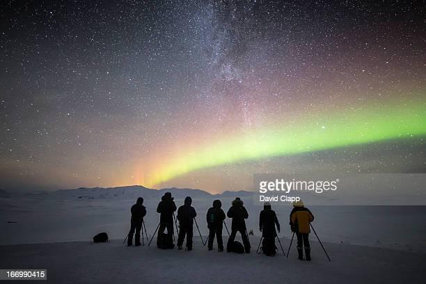 Photographers, Milky Way, Aurora, Iceland