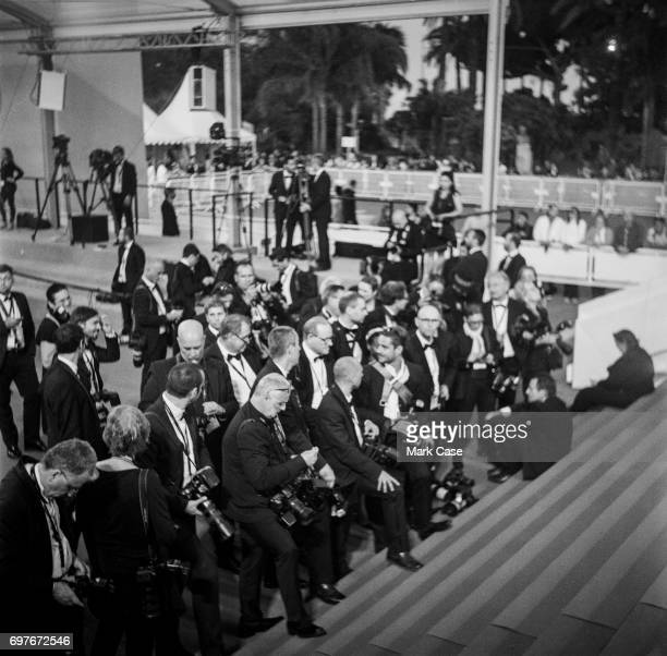 Photographers on the red carpet during the 70th Annual Cannes Film Festival on June 1 2017 in Cannes France To celebrate the 70th anniversary of the...