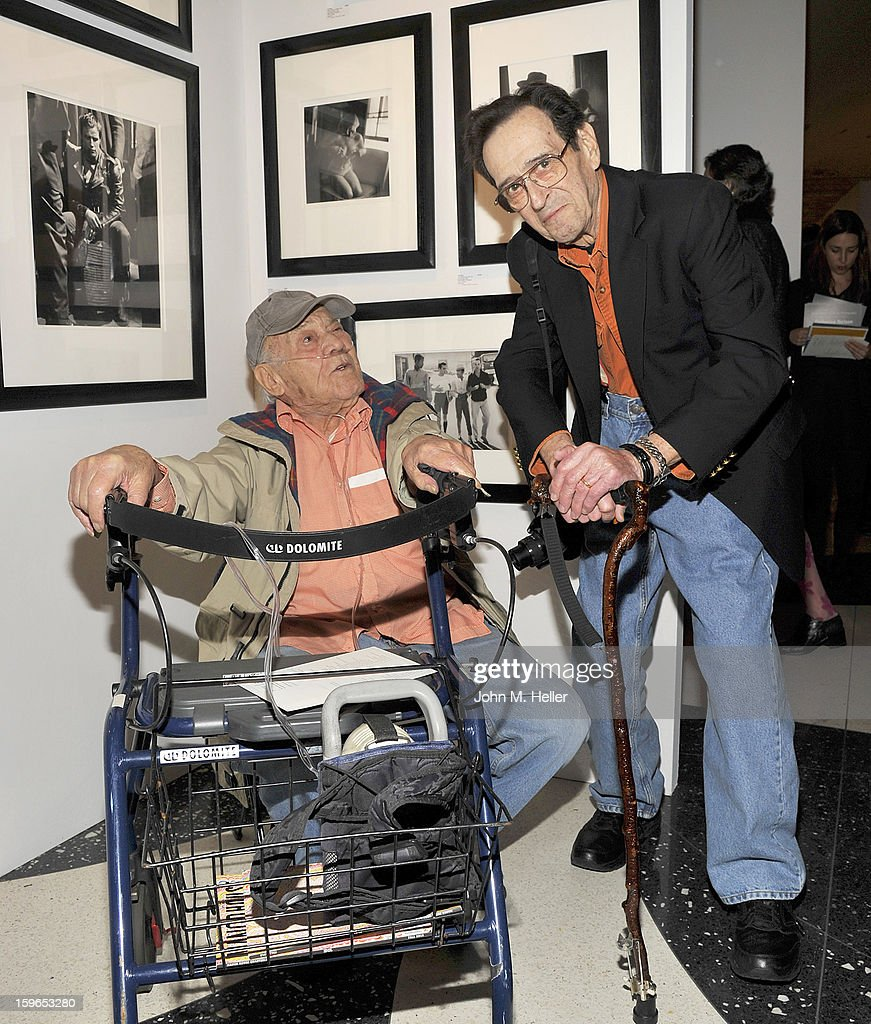 Photographers <a gi-track='captionPersonalityLinkClicked' href=/galleries/search?phrase=Phil+Stern+-+Photographer&family=editorial&specificpeople=1142735 ng-click='$event.stopPropagation()'>Phil Stern</a> and Bill Eppridge attend the Opening Reception For Photo