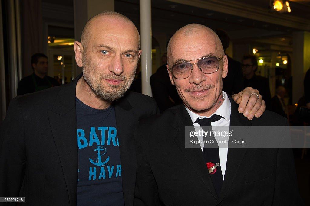 Photographers Pierre et Gilles attend the Sidaction Gala Dinner at Pavillon d'Armenonville, in Paris.