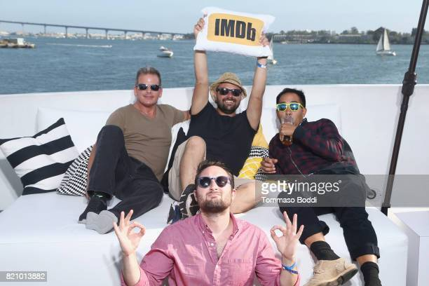 Photographers Rich Polk Tommaso Boddi artist Ben Tong and filmmaker Quinn P Smith on the #IMDboat at San Diego ComicCon 2017 at The IMDb Yacht on...