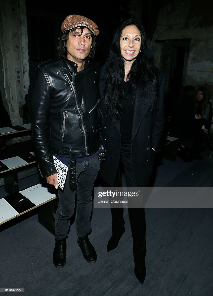 Photographers Vinoodh Matadin and Inez Van Lamsweerde attend the Proenza Schouler fall 2013 fashion show during Mercedes-Benz Fashion Week on February 13, 2013 in New York City.