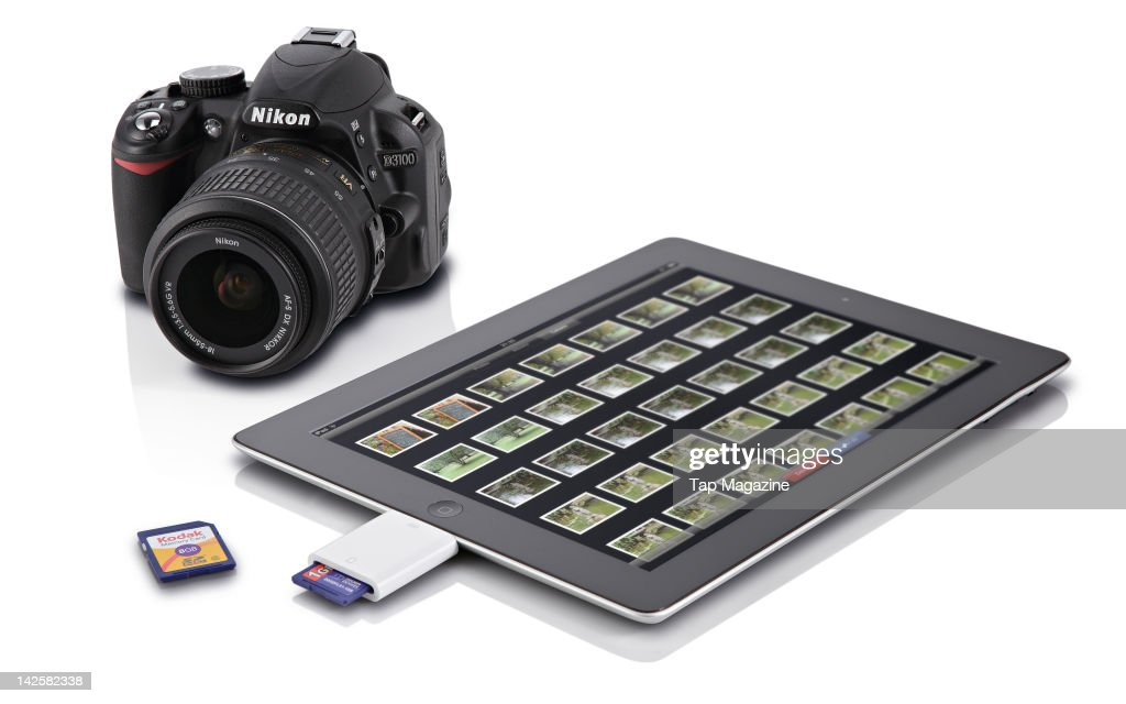 A photographic card reader for the iPad, September 30, 2011.