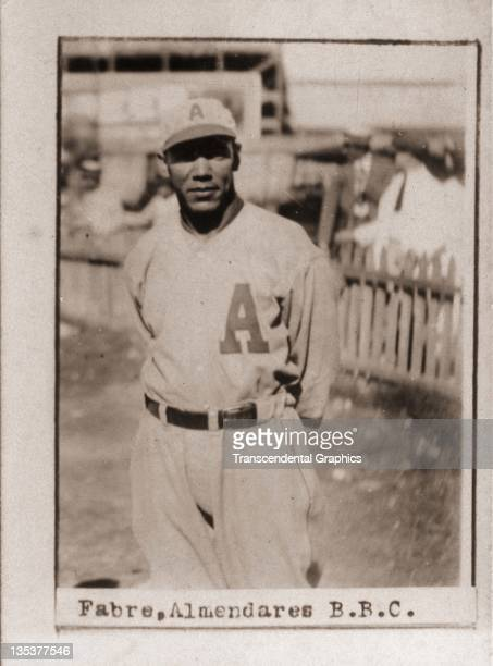 A photographic cigarette insert card for Billiken cigarettes features Cuban Hall of Famer Isidro FabrŽ and was produced in 1923 in Havana Cuba