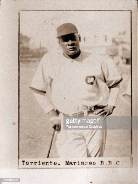 A photographic cigarette insert card for Billiken cigarettes features Cuban Hall of Famer Cristobal Torriente was produced in 1923 in Havana Cuba